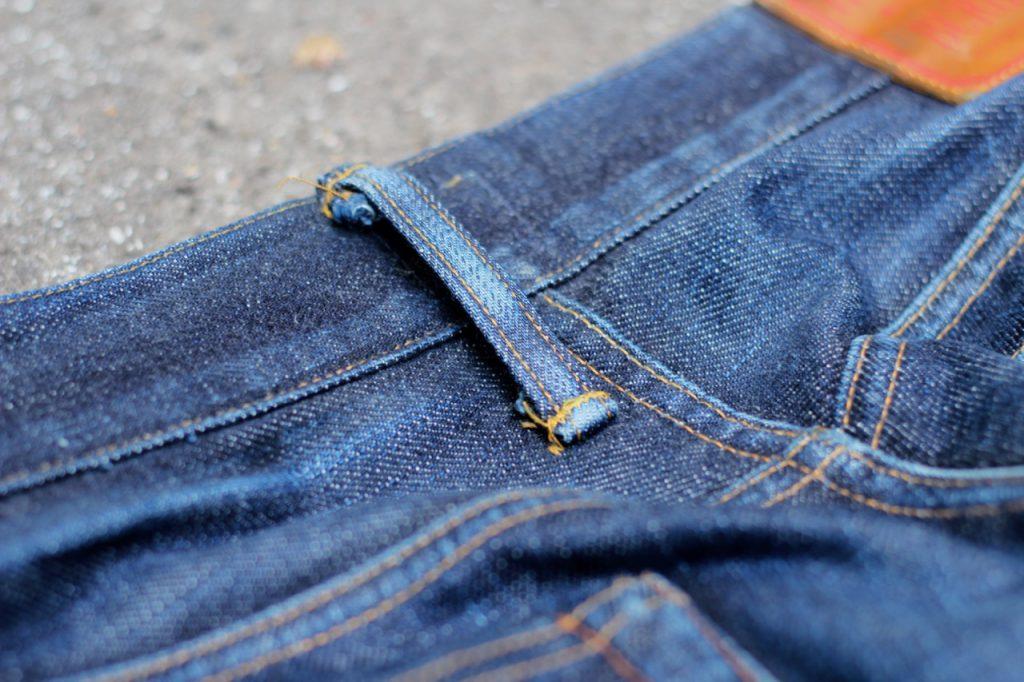 Indigofera No. 2 shrink-to-prima-fit denim off-set belt loop