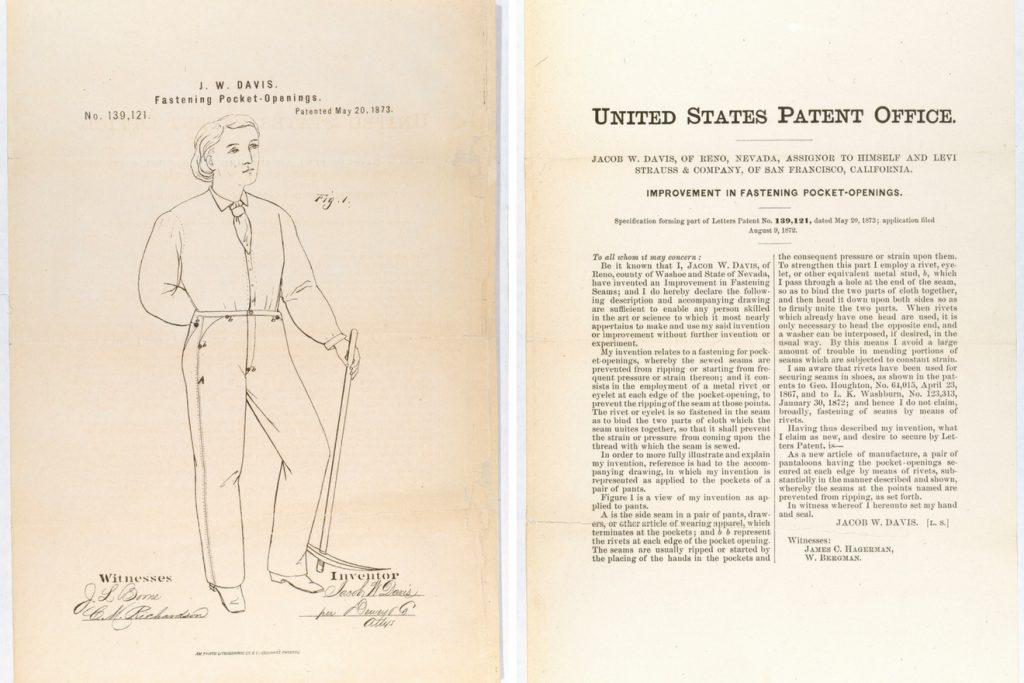 Jacob W. Davis patent for rivets