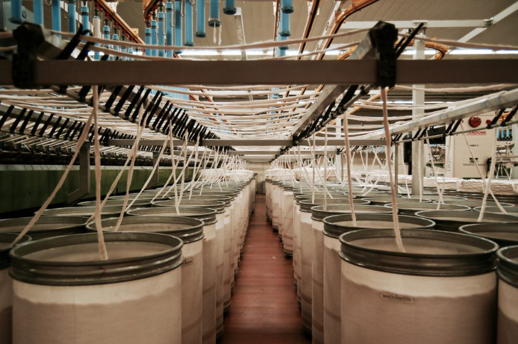 how denim is made, spinning slivers