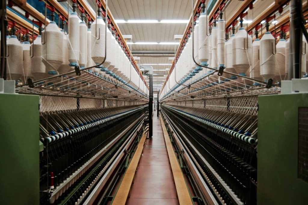 how denim is made, spinning ring spinning