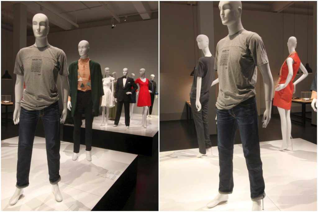 Ruffloff Garments at Deutsche Hygiene Museum Dresden, jeans on mannequins