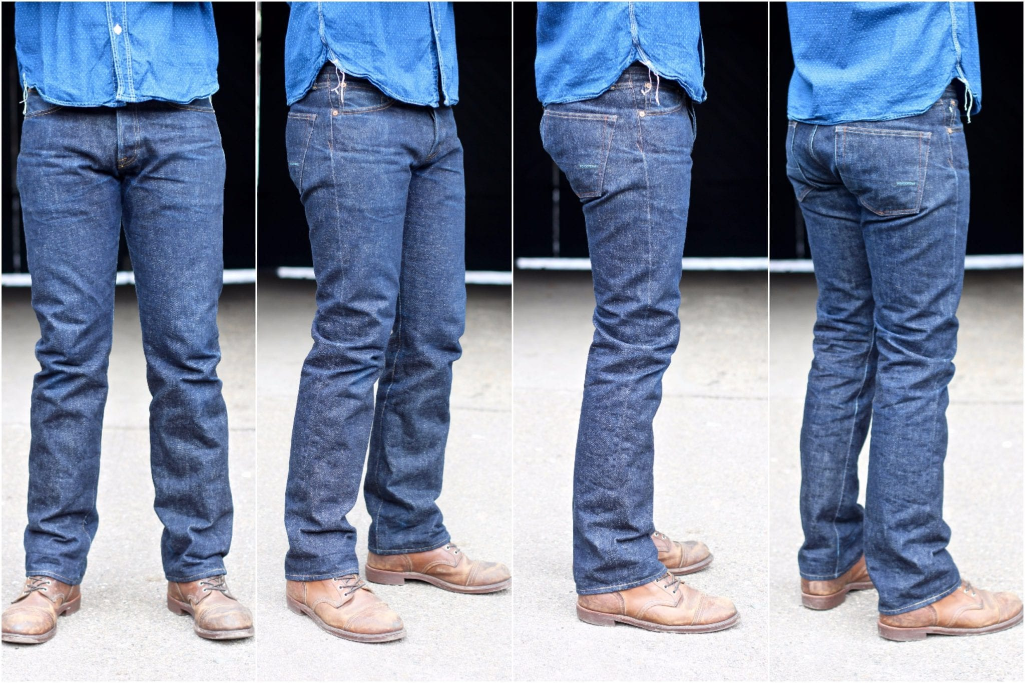 Regular fit, Indigofera, Clint jeans, raw denim, Japanese denim, denim fades