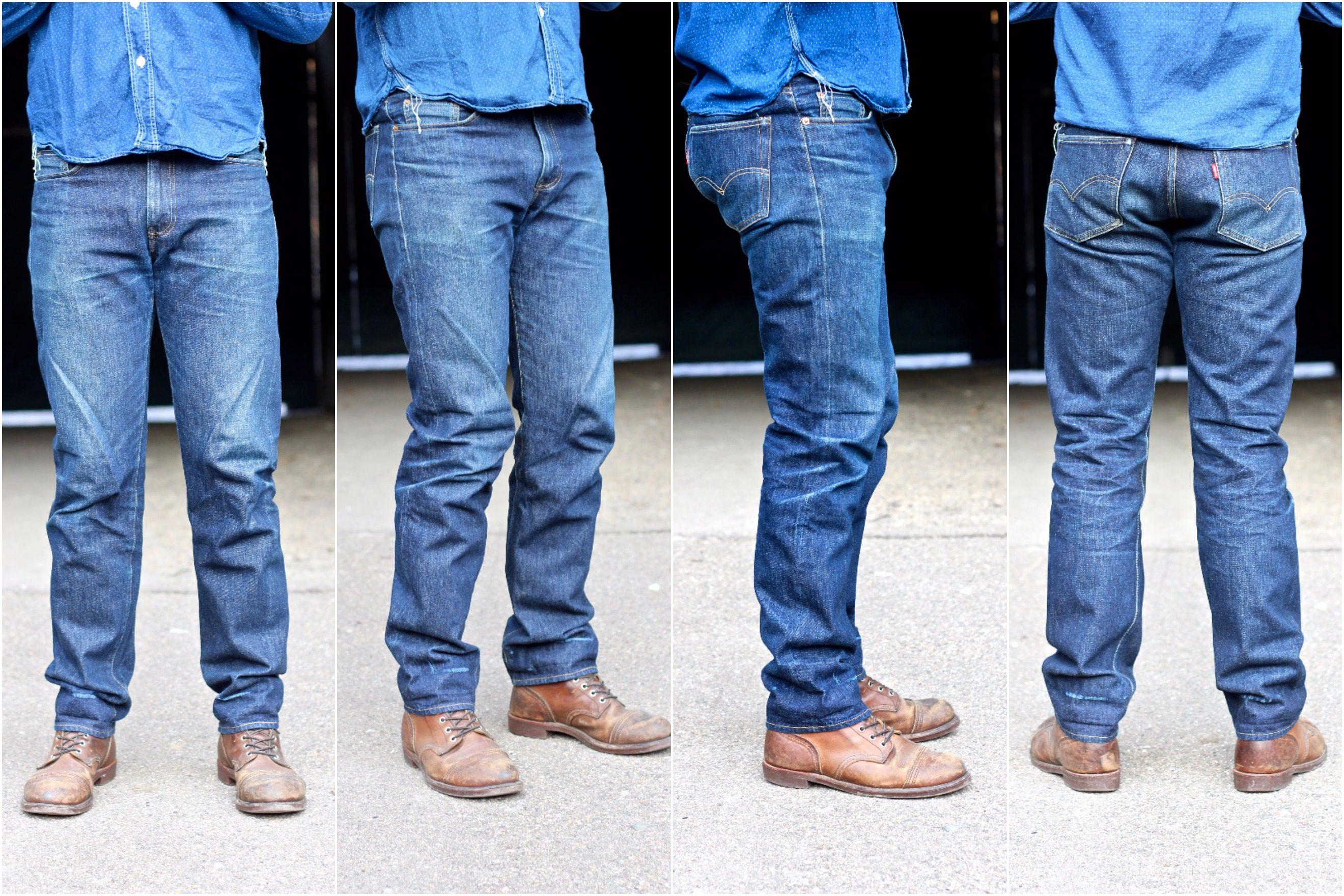 Mens Straight Leg Jeans Free Belt Denim Pants Faded Jean Big Size 32 to 46