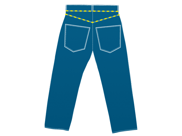 The yoke is a defining feature of jeans