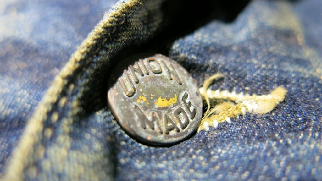 Union Made button