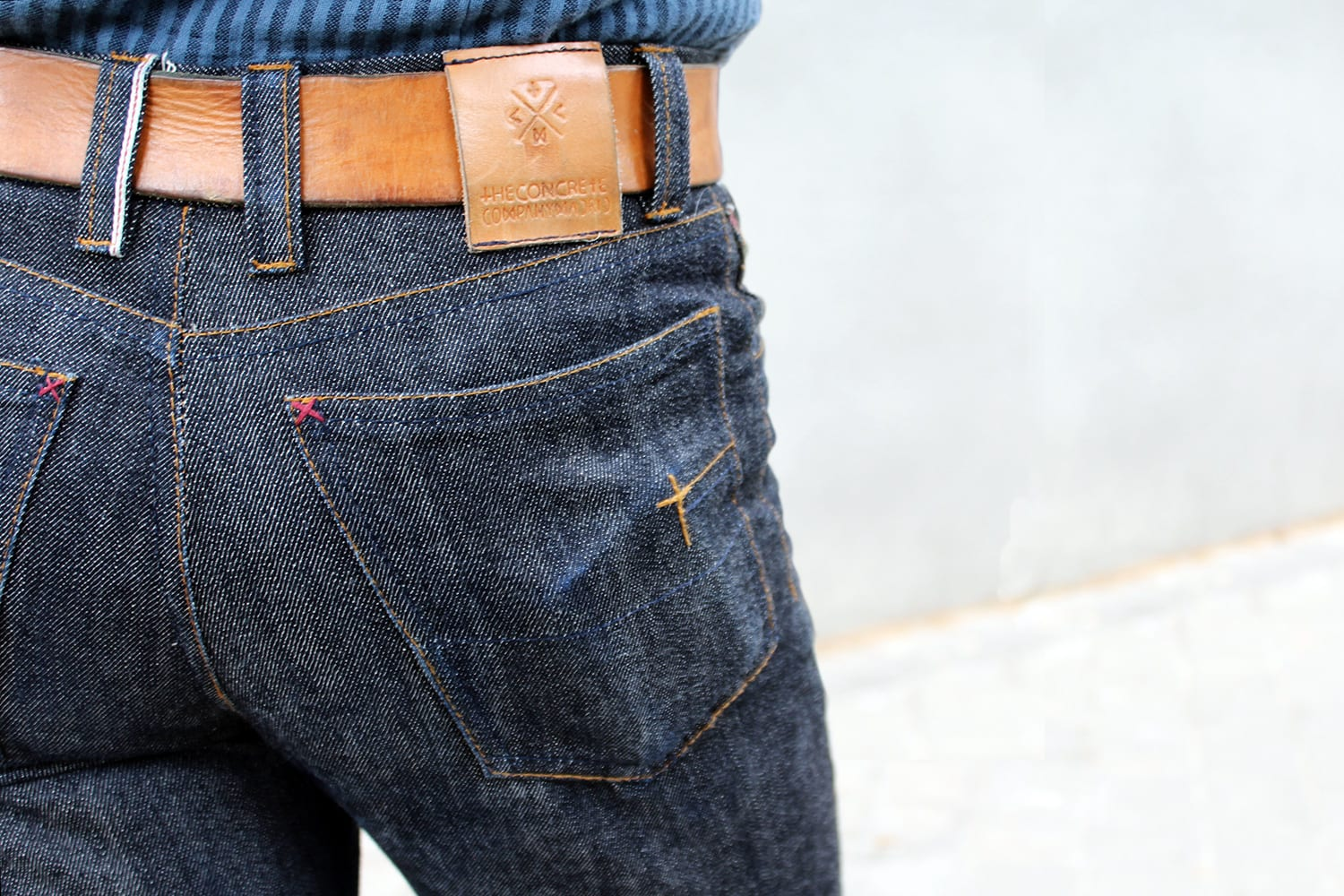 Artisan Challenge second place TheConcrete faded raw denim jeans