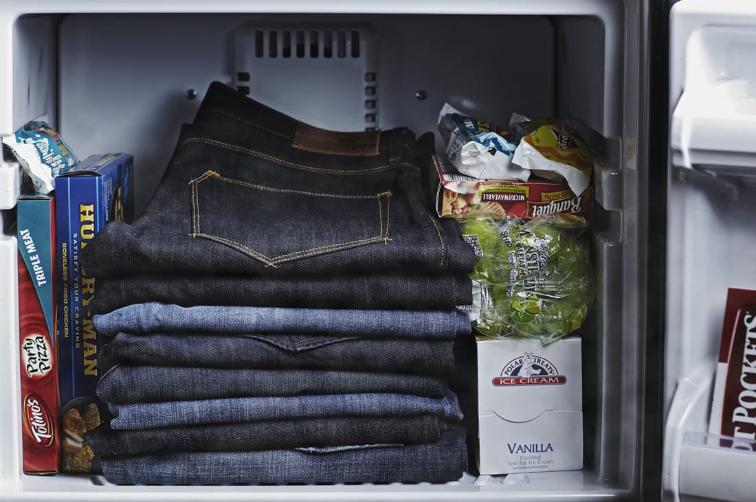 raw denim care freezer