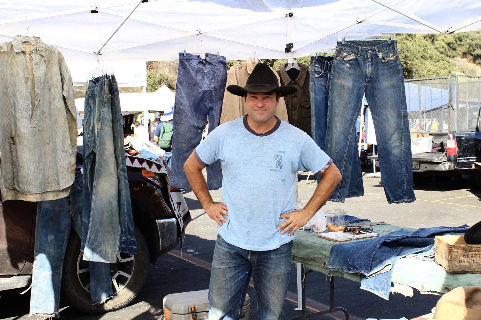 Brit Eaton at the Rose Bowl flea market