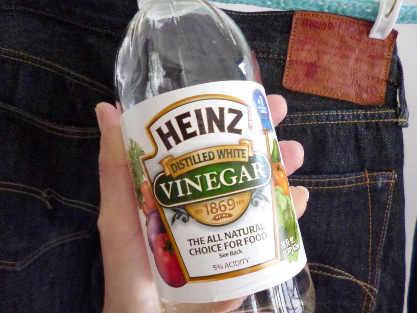 Raw denim vinegar