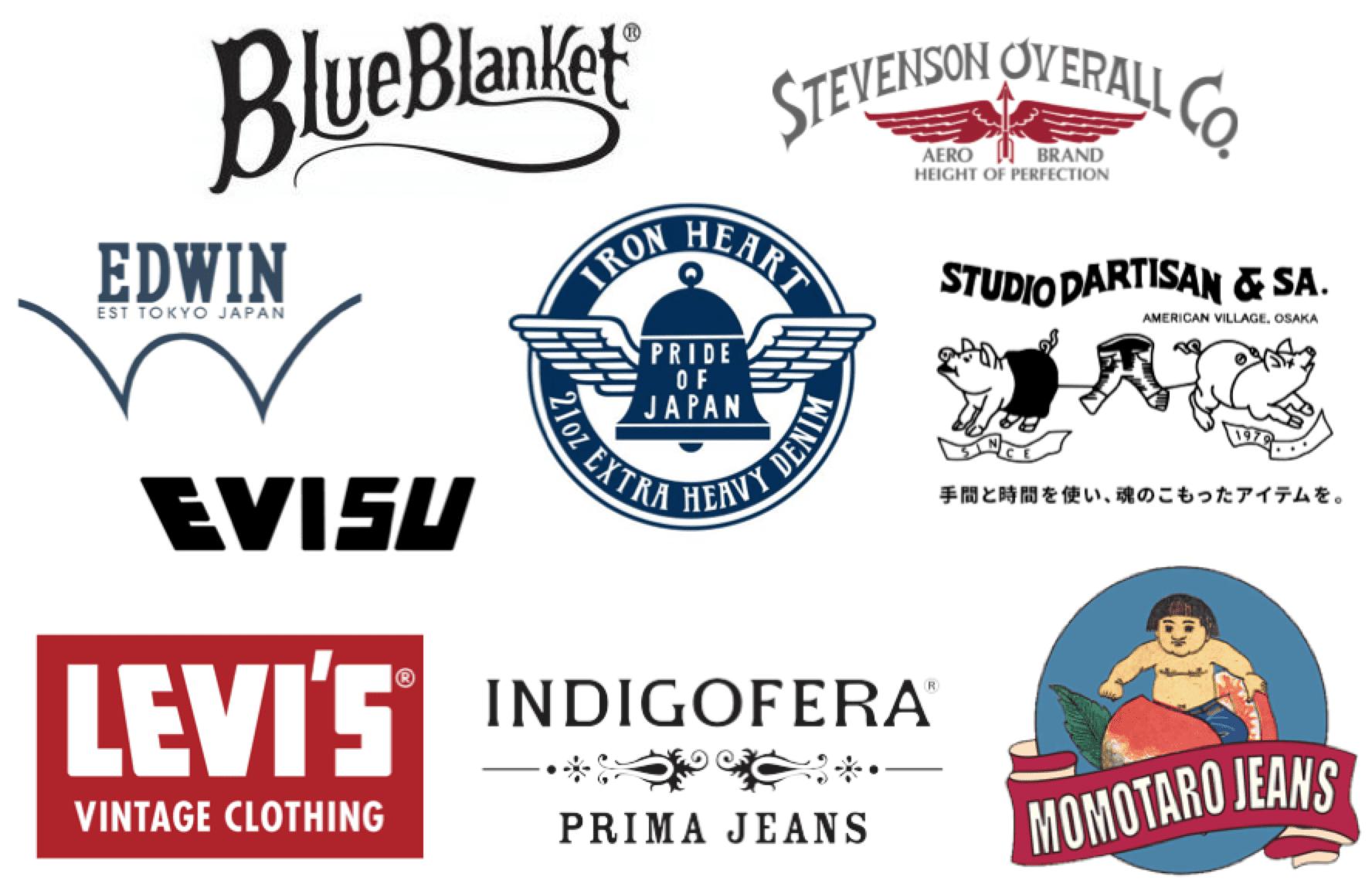 Heritage jeans - Blue Blanket, Stevenson Overalls, Edwin Jeans, Iron Heart, Studio D'Artisan, Evisu, Momotaro, Indigofera, Levi's Vintage Clothing