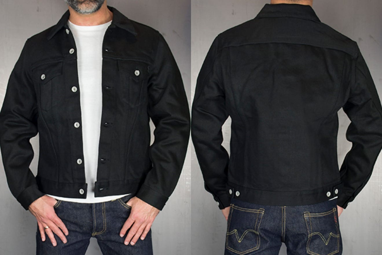 Iron Heart IH-9526J superblack Type III trucket denim jacket