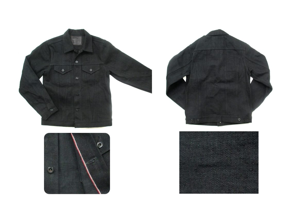 ONI 02527ZR-BKBK 20 oz. Secret Denim trucker jacket