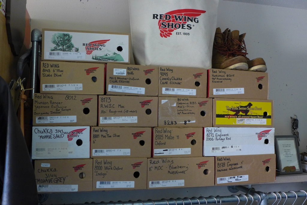 Part of Michael van Hal's Red Wing collection