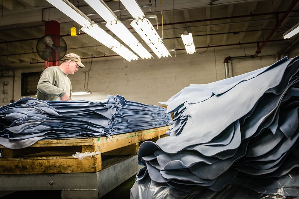 Red Wing S. B. Foot Tanning how leather is made wet blue