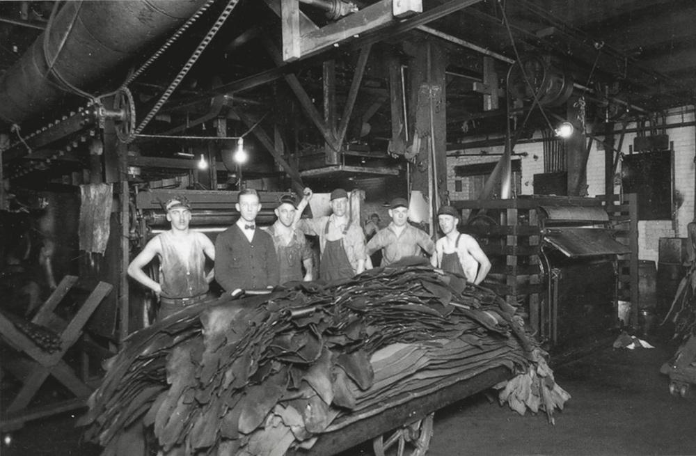S.B. Foot Tanning Company finishing department 1929