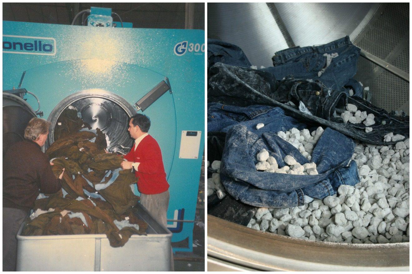 Tonello G1 300 stonewashing pre-washed jeans