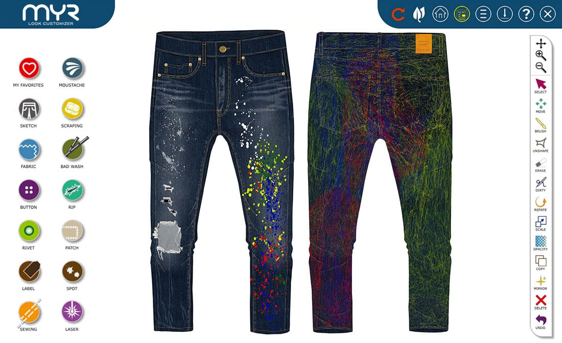 MYR jeans design software