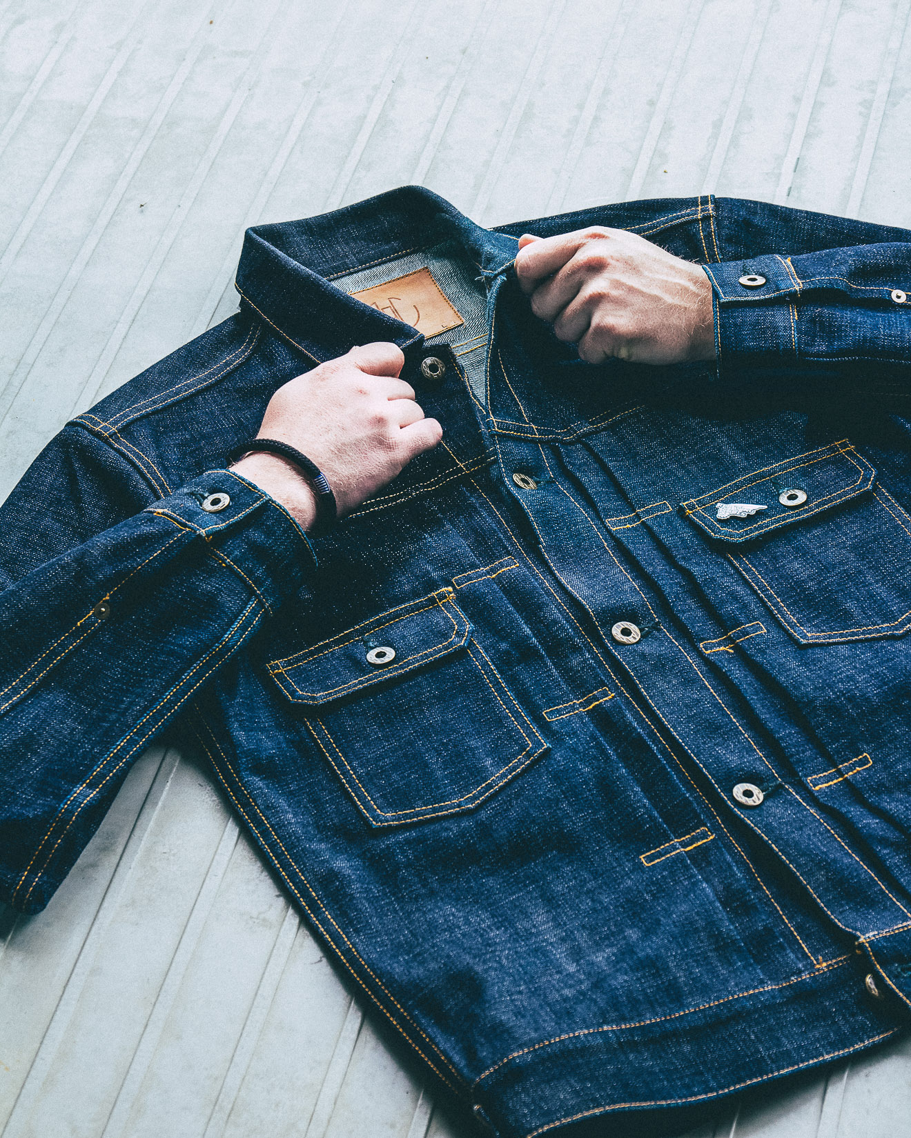 Denimhunters, Blue Blooded Instagrammer, koenkuik, raw denim, denim jacket, Photoshop