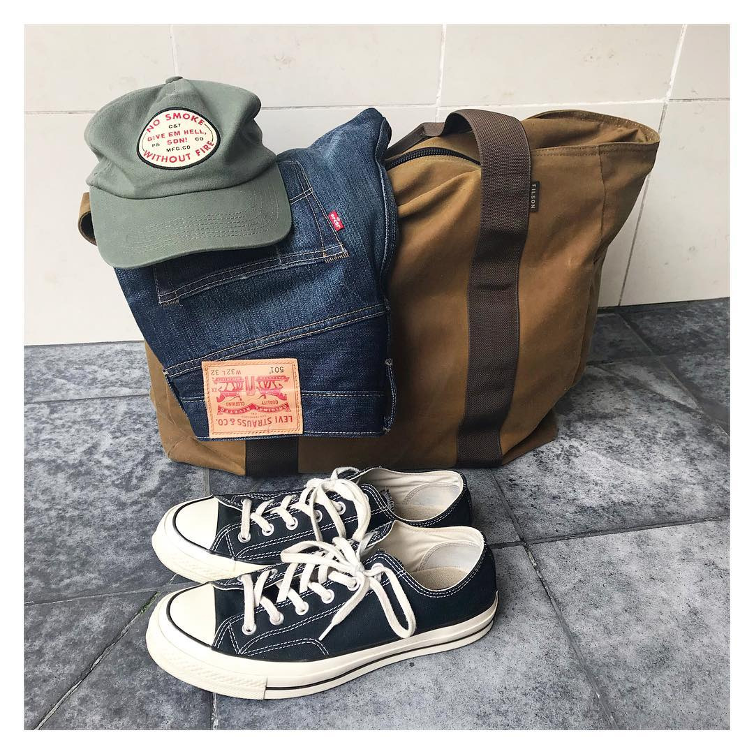 Blue Blooded, Instagrammer, Denimhunters, thedenimdaze, raw denim, Clobber Calm Supply Co, Converse 70s