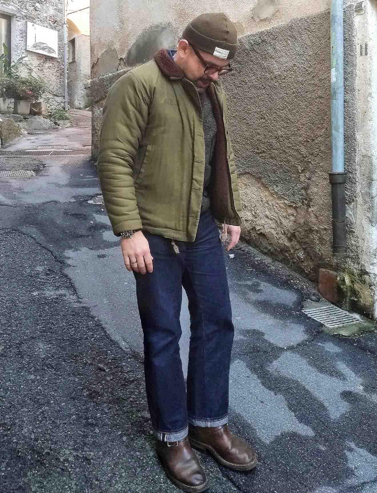 Blue Blooded, Instagrammer, volvosufu, Denimhunters, TCB Jeans, 60s, raw denim, Japanese denim, selvedge denim, N1 deck jacket