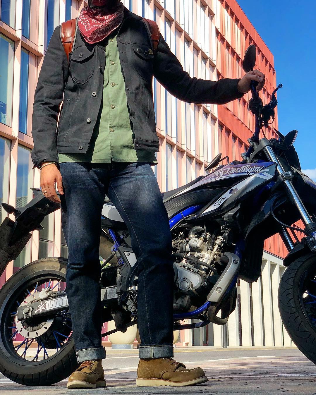 Blue Blooded, Instagrammer, illcutz, Denimhunters, motorcycle
