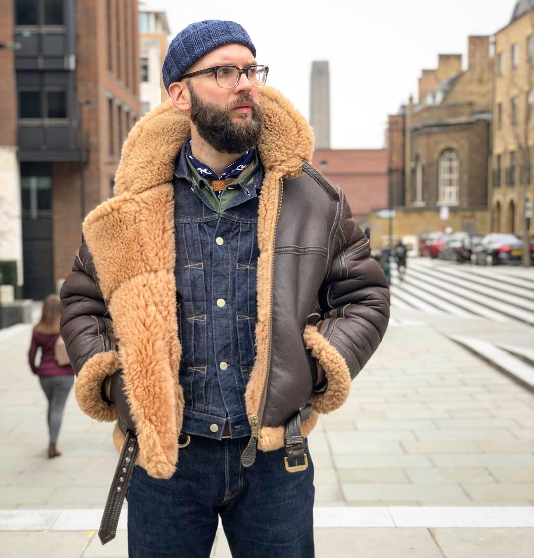 Blue Blooded, Instagrammer, illcutz, Denimhunters, shearling leather jacket