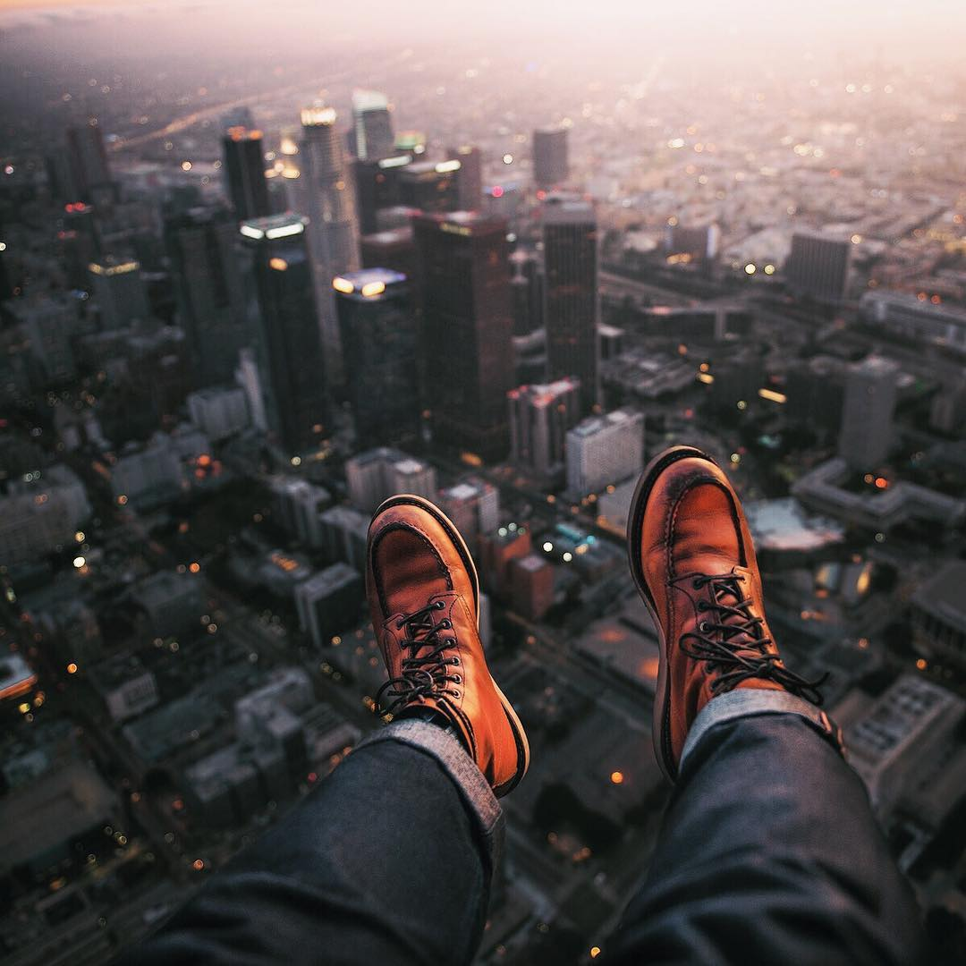 Blue Blooded, Instagrammer, Denimhunters, bigdudeindenim, breaded guy, Red Wing boots, moctoe boots, Los Angeles skyline,