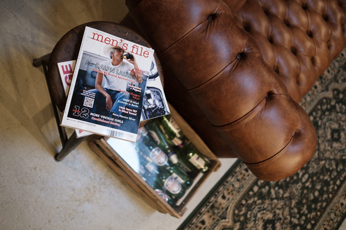 Denimhunters, stuff - fine goods, store review, stuf|f, leather club chair, chair, Men's File, magazine