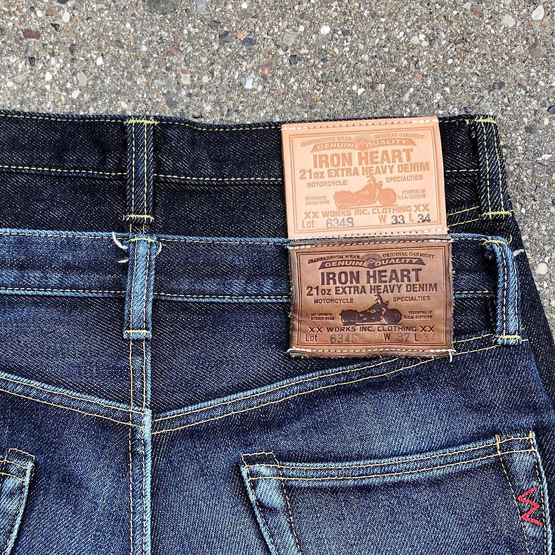 Iron Heart, brand profile, Denimhunters, 21 oz., denim, faded