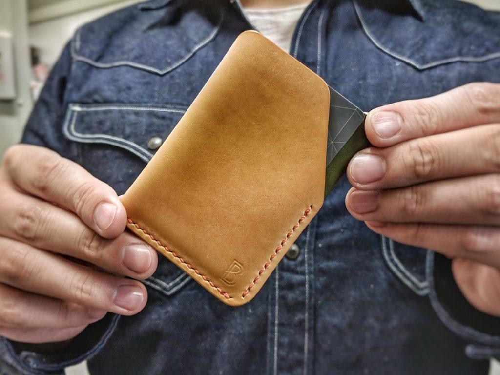 Blue Blooded, Instagrammer, Indigoshrimp, veg tan, leather wallet,