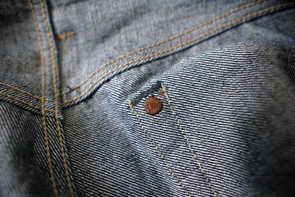 hidden rivet, jeans,