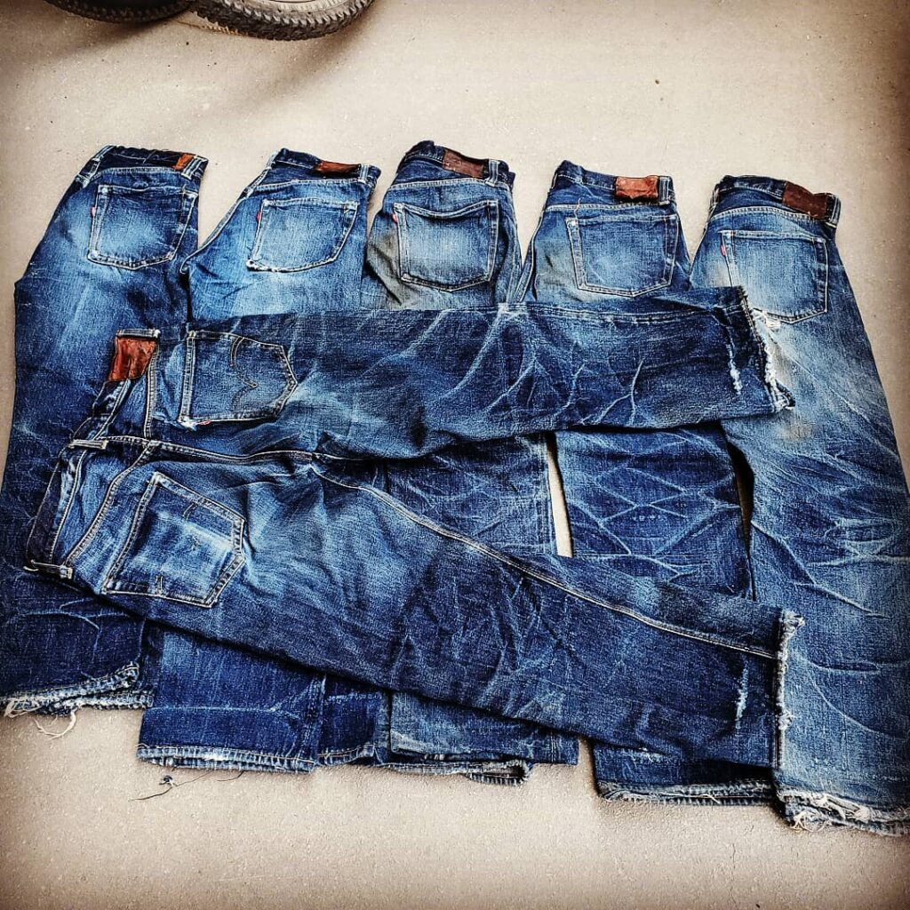 Brit Eaton, Denimhunters Podcast, vintage jeans, Levi's, vintage Levi's, originalindianajeans,